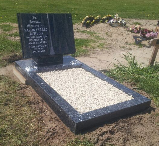book style gravestone